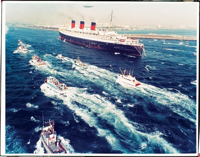 R.M.S. Queen Mary arrived in Long Beach Harbor on December 9, 1967 with an estimated 5000 small craft welcoming her home! On December 9, 2017 the legendary liner celebrates 50 years in Southern California!