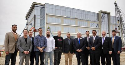 Principals for Boss Fight Entertainment, Kaizen Development Partners, JLL, Allen Economic Development Corp and Mayor Stephen Terrell pictured.