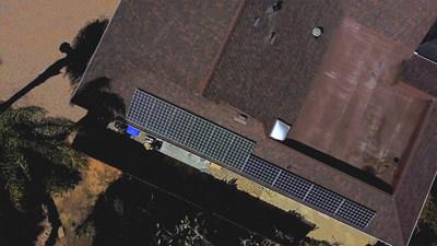 The Harris family solar installation in Encinitas, CA.