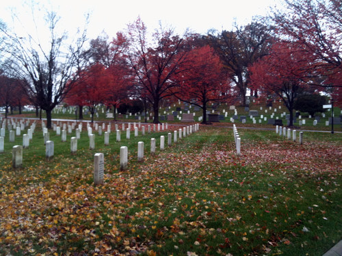 A final resting place for America's servicemen and women, Arlington National Cemetery.