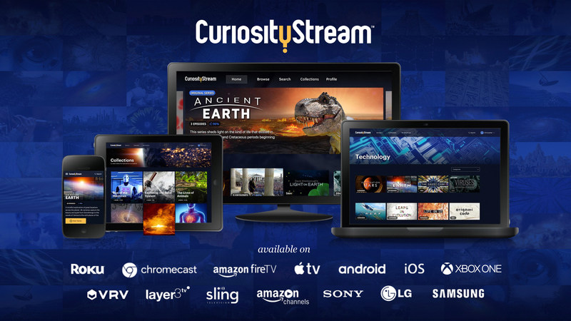 CuriosityStream expands its reach with new distribution partners including Sling TV, Layer3 TV, VRV, and more.