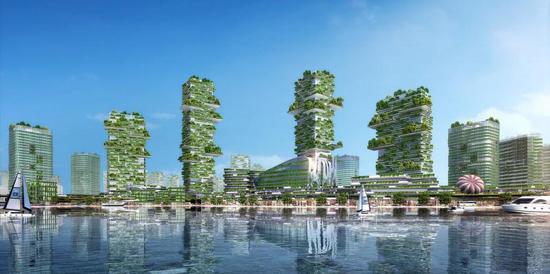 The rendering of Tonghu Techtown
