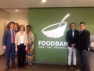 The team at International Management Partners held a successful food drive to benefit Food Bank for the Heartland.