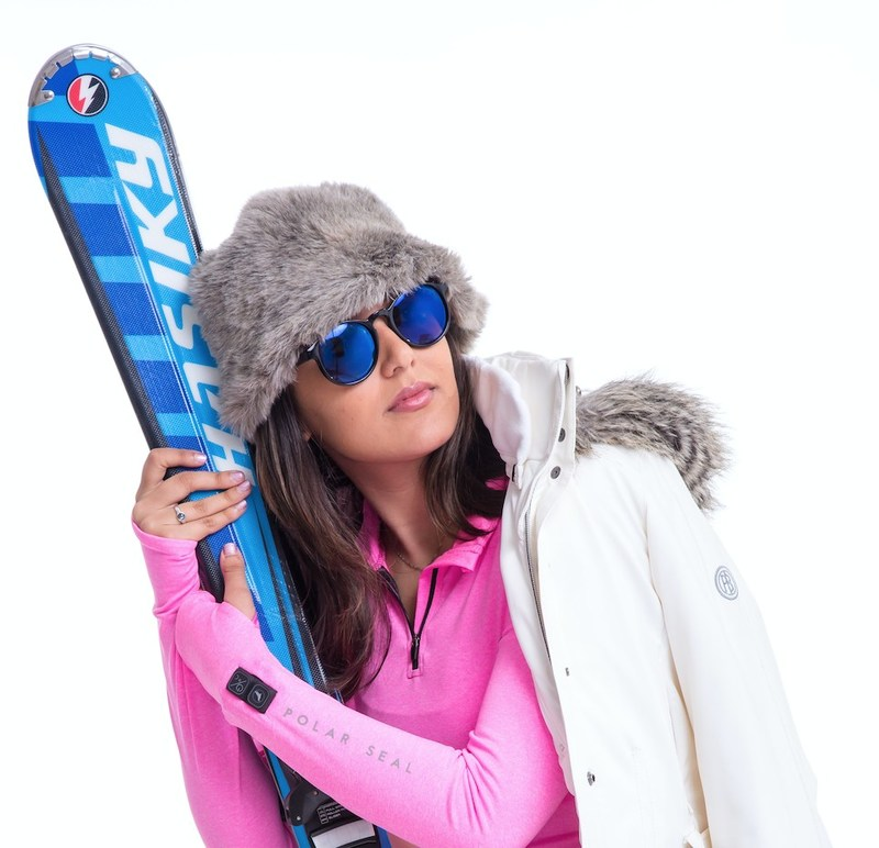 Chilling out on the slopes with the POLAR SEAL heated zip top