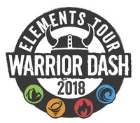 "Warrior Dash's 2018 ""Elements Tour"" logo"