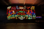 Bulleit Frontier Works NEON Project Billboard at LA's Grand Central Market celebrates the modern cultural frontier.