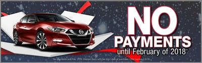 Glendale Nissan offers delayed payments until Feb. 2018.