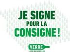 Logo : Je signe pour la consigne! (Groupe CNW/Syndicat des Metallos (FTQ))