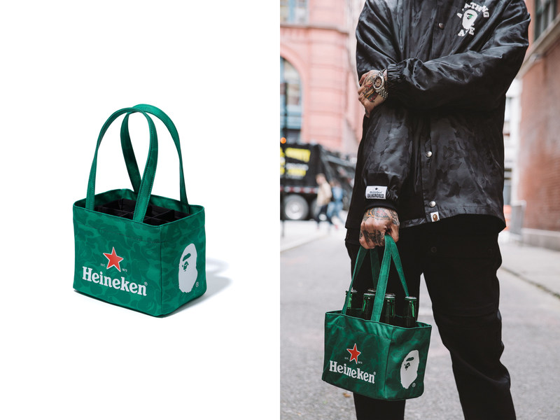 Today, Heineken®, the world's leading international brewer, launches the eighth year of its coveted #Heineken100 program, partnering with A Bathing Ape® (BAPE®), the global streetwear phenomenon, on a limited-edition, four-piece capsule collection. For the first time in the history of the #Heineken100 program, this year's products will be available for consumers 21 and older to purchase at a pop-up shop in New York City.