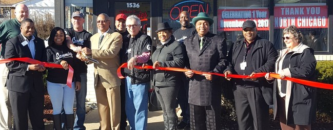 Dignitaries celebrate Sammie's one year anniversary in North Chicago