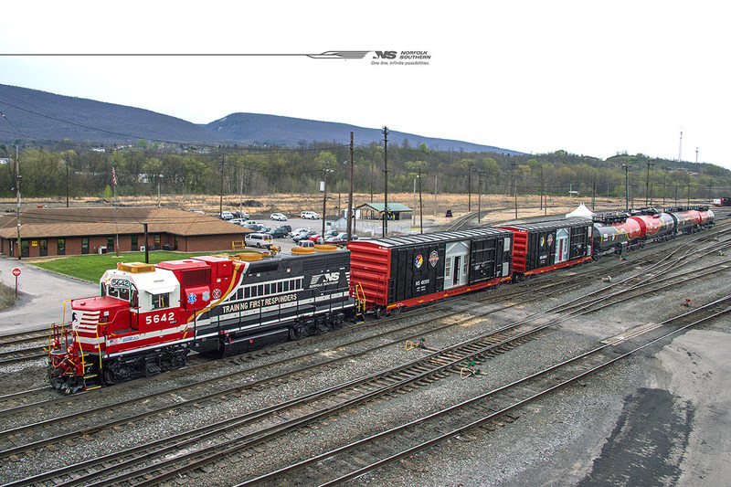 The Norfolk Southern hazmat safety train is like a rolling classroom, delivering hands-on training directly to emergency responders.