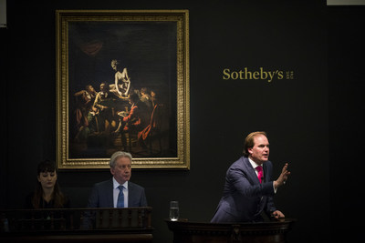 Harry Dalmeny, Sotheby's Chairman for the United Kingdom & Ireland, fields bids during the Company's recent auction of Old Master Paintings in London that totaled $37.8 million.