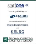 Brown Gibbons Lang & Company (BGL) is pleased to announce the sale of Staff One, Inc. (Staff One HR or the Company) to Oasis Outsourcing, Inc. (Oasis Outsourcing), the nation's largest privately held professional employer organization (PEO) and a portfolio company of Stone Point Capital and Kelso & Company. BGL's Business Services team served as the exclusive financial advisor to Staff One HR.  Terms of the transaction were not disclosed.