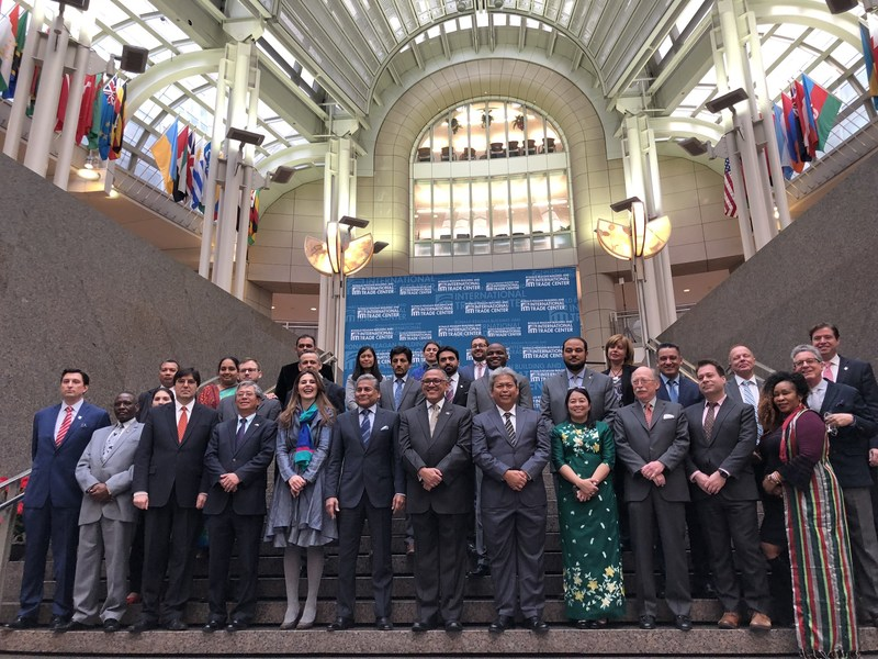 Ambassadors and diplomats from 39 embassies were represented at  the 6th Annual Embassy Showcase, Winternational, held at the Ronald Reagan Building and International Trade Center.