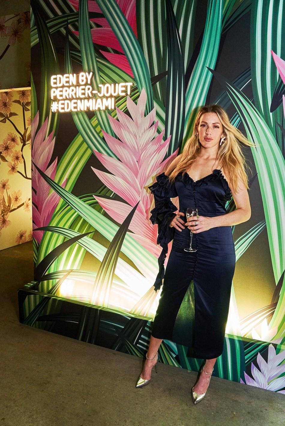 Ellie Goulding at Eden by Perrier-Jouet in Miami (PRNewsfoto/Maison Perrier-Jouet)