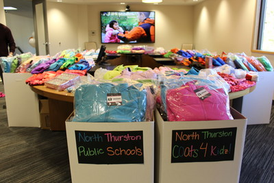 $12,000 worth of new coats donated to Seattle-area students in need.