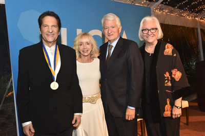 UCLA Medal recipient Peter Guber; Dean Judy Olian of the UCLA Anderson School of Management; UCLA Chancellor Gene Block; Dean Teri Schwartz of the UCLA School of Theater, Film and Television.