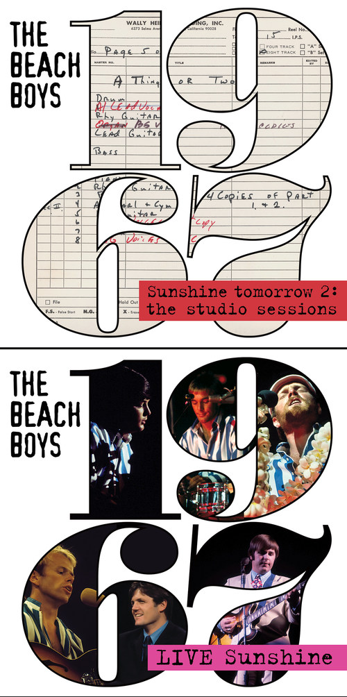 Today, The Beach Boys release two new digital audio collections worldwide via Capitol/UMe, revealing much more of the legendary band's pivotal 1967 creative work in the studio and onstage. Following the acclaimed 2CD and digital '1967 – Sunshine Tomorrow' collection released in June by Capitol//UMe, '1967 – Sunshine Tomorrow 2: The Studio Sessions' presents 29 studio session recordings and 'Live Sunshine – 1967' features 109 live recordings, most of which are previously unreleased.