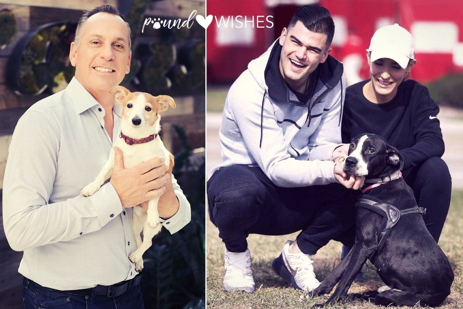 NFL Referee John Hussey and MLB World Series Champion Pitcher Lance McCullers Come Together to Save Animals with poundWISHES (PRNewsfoto/poundWISHES)
