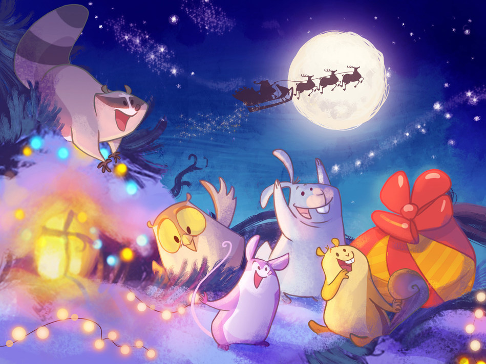 "OTATAA's family app ""Xmas Night"" frees parents from the need to explain Santa Claus / The use of the attached images is free of charge for editorial purposes. Publication under the source: ""www.otataa.com"" (PRNewsfoto/OTATAA)"