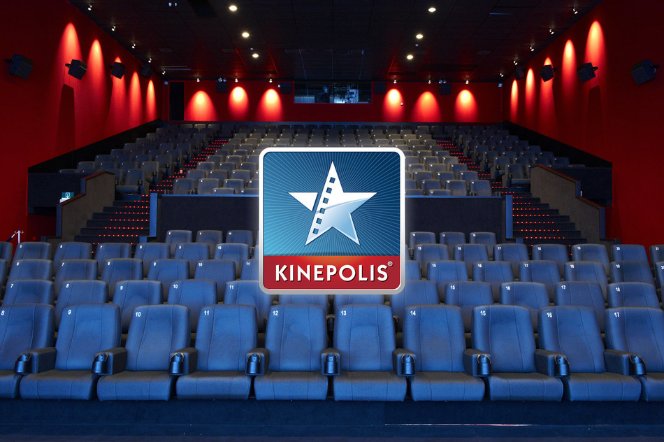 Kinepolis Logo w/ Auditorium View (CNW Group/Landmark Cinemas)