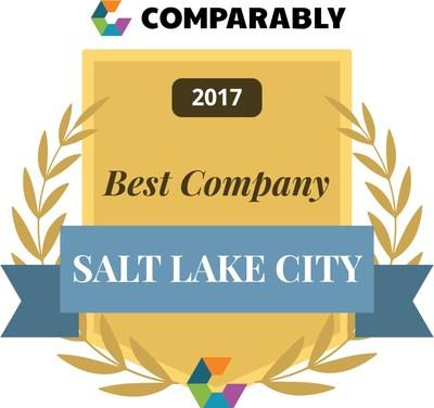 Comparably's 2017 Best Company is Salt Lake City award