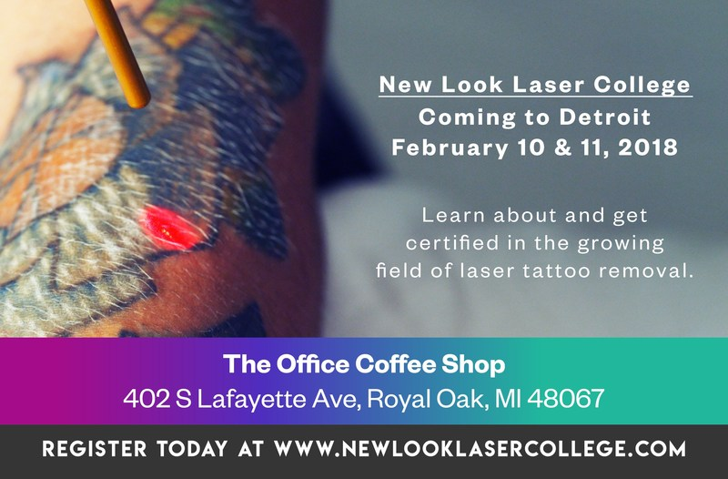 New Look Laser College, Astanza's Training Division, is hosting its first Detroit, Michigan laser tattoo removal training course on February 10 and 11, 2018.