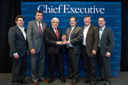 Pictured (L-R): Dan Bigman, Editor-in-Chief, Chief Executive Group (CEG), Wayne Berson, CEO of BDO USA, Stanley Bergman, Chairman/CEO, Henry Schein, Carmen Ferrigno, Vice President of Communications, Branding and Philanthropy and Executive Director of the Saint-Gobain Corporation Foundation, Wayne Cooper, Executive Chairman, CEG, Marshall Cooper, CEO, CEG