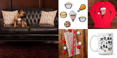 With products starting at just $4, The KFC Ltd. refresh includes a mix of vintage-style apparel and prints, unique accessories, along with Colonel Sanders and fried chicken-themed wrapping paper.