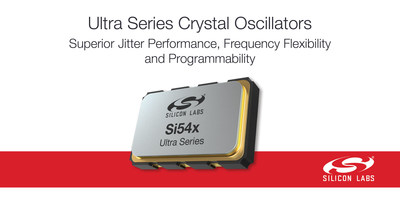 Silicon Labs' Si54x Ultra Series crystal oscillators provide best-in-class jitter performance, frequency flexibility and programmability for 100/200/400G applications.