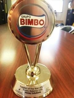 Supplier of the Year 2017 Bimbo Bakeries USA - - Honey Holding dba Honey Solutions