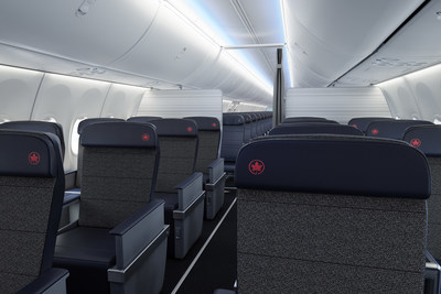 Classe affaires du 737 MAX d'Air Canada (Groupe CNW/Air Canada)