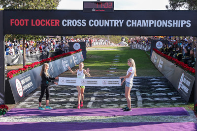 Claudia Lane of Malibu Calif., captured first place in the girls race at the 39th Annual Foot Locker Cross Country Championships (FLCCC) National Finals at Morley Field, Balboa Park in San Diego on Dec. 9, 2017.