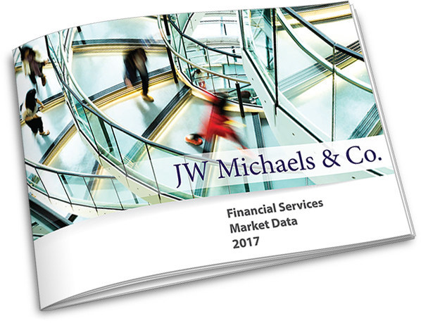 The JW Michaels & Co. Financial Services Market Data Report 2017 represents compensation for various executive positions of top-tier financial services, accounting, legal, technology, and business institutions.