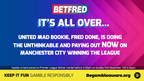 Done and Dusted - United Mad Bookie and Betfred Boss Fred Done Pays Out on Man City to Win the League