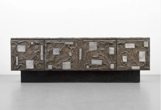 Monumental Paul Evans/Directional cabinet, bronzed resin, slate, wood, lacquered steel; $23,040. Palm Beach Modern Auctions image