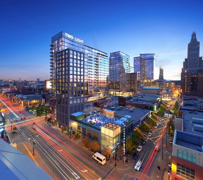 Construction of Two Light Luxury Apartments in Kansas City, MO will be completed a month earlier than anticipated, allowing residents to move into their new luxury apartment homes as early as May 4, 2018. Two Light will be Kansas City's second luxury, high-rise apartment tower in over 50 years.