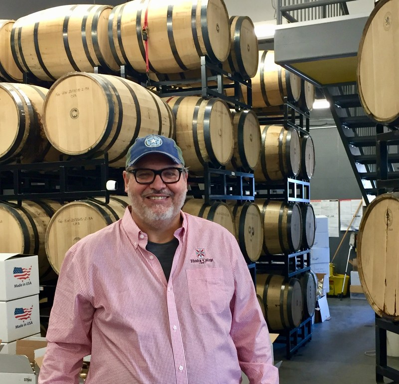 """Jim Massey of Fugitives Spirits in front of the first barrels of Tennessee Whiskey made with sustainable heirloom corn in over 60 years! """"We are excited to bring a terroir driven heirloom corn Tennessee Whiskey to market."""" Remember: """"All Tennessee Whiskey is Bourbon, but NOT ALL Bourbon is Tennessee Whiskey!"""""""