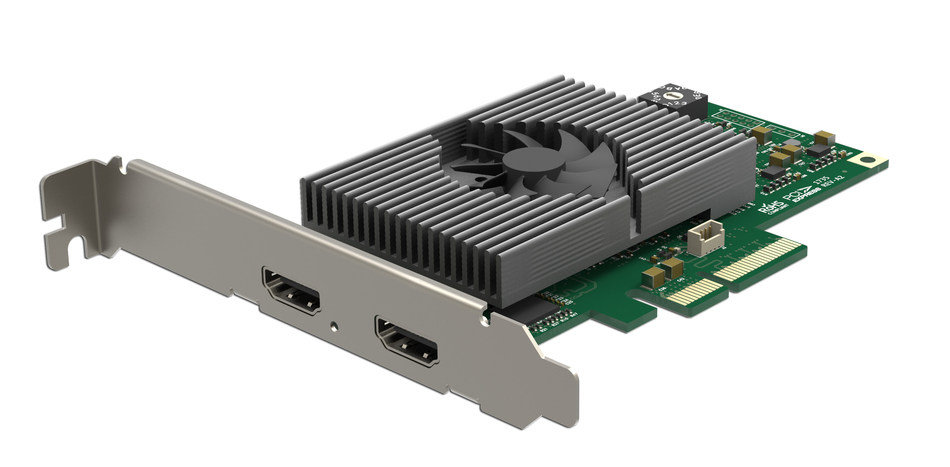 Magewell's Pro Capture HDMI 4K Plus LT card captures Ultra HD video at full 60 frames per second while simplifying workflows with loop-through connectivity