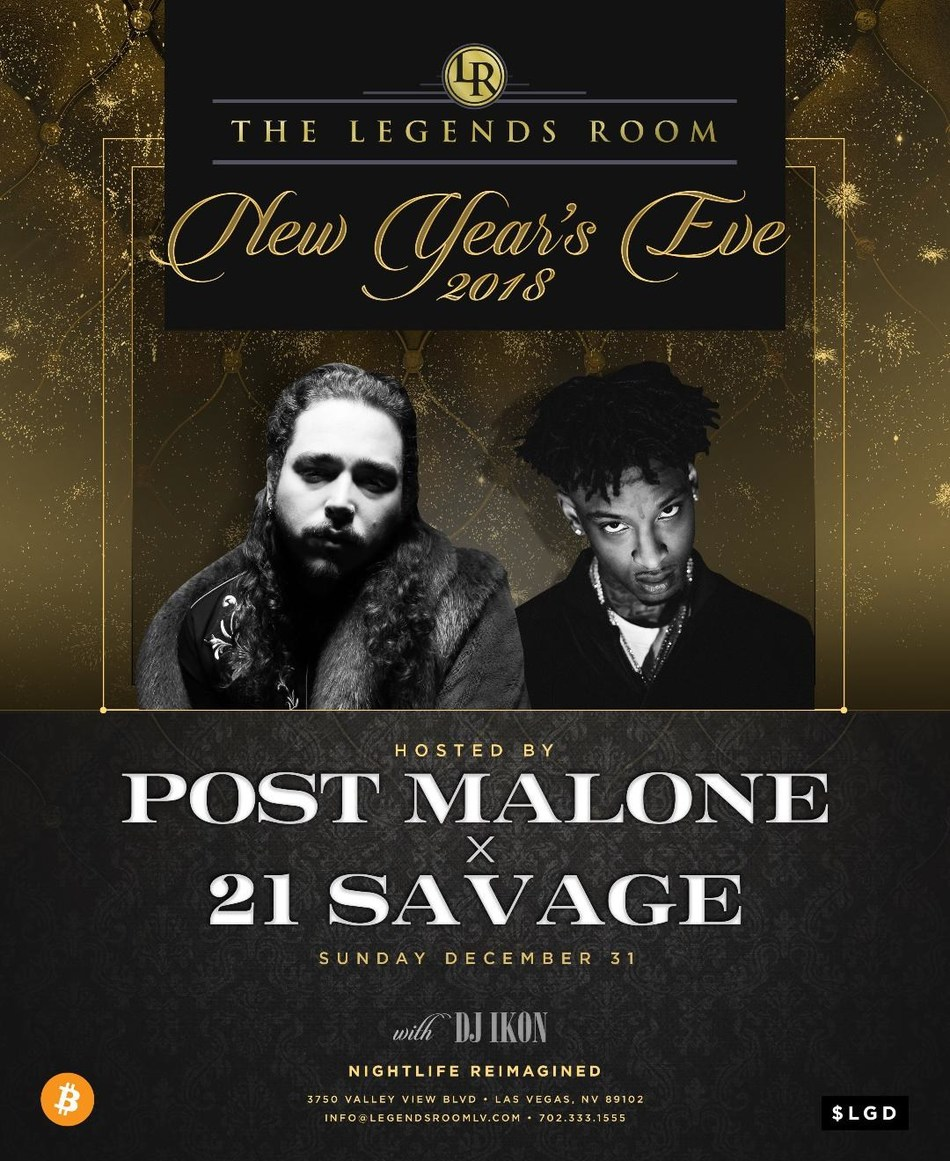 Post Malone and 21 Savage host crypto New Year's Eve.