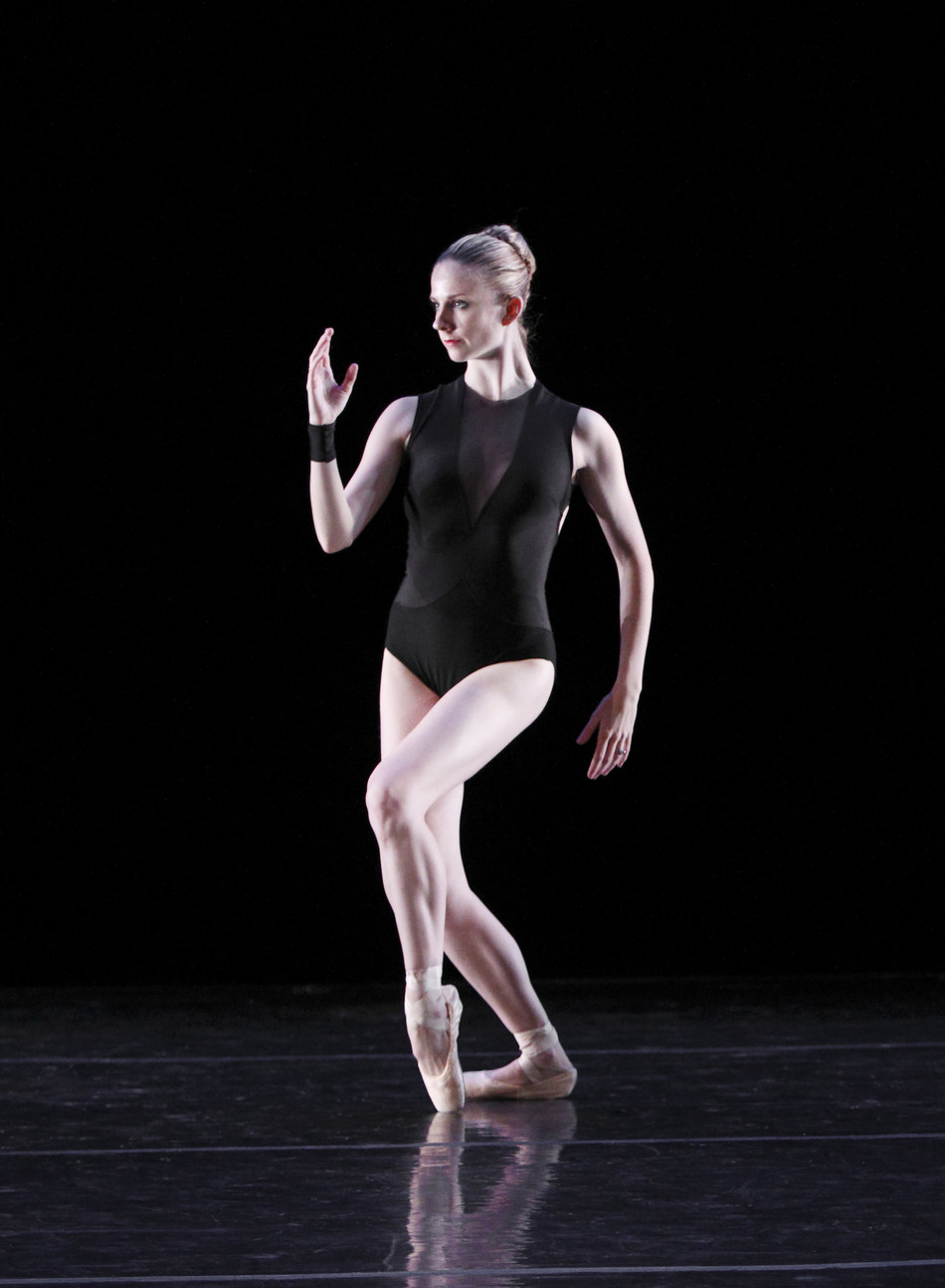 Michele Wiles performing BalletNext's La Folia by Mauro Bigonzetti, Photo Gene Schiavonne