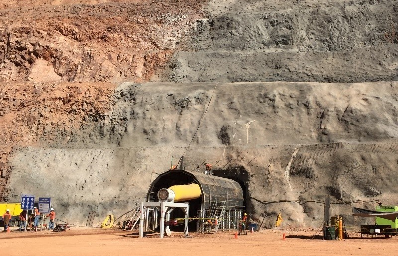 Figure 1a: Portal and Ramp for Development of Bermejal Underground (CNW Group/Leagold Mining Corporation)