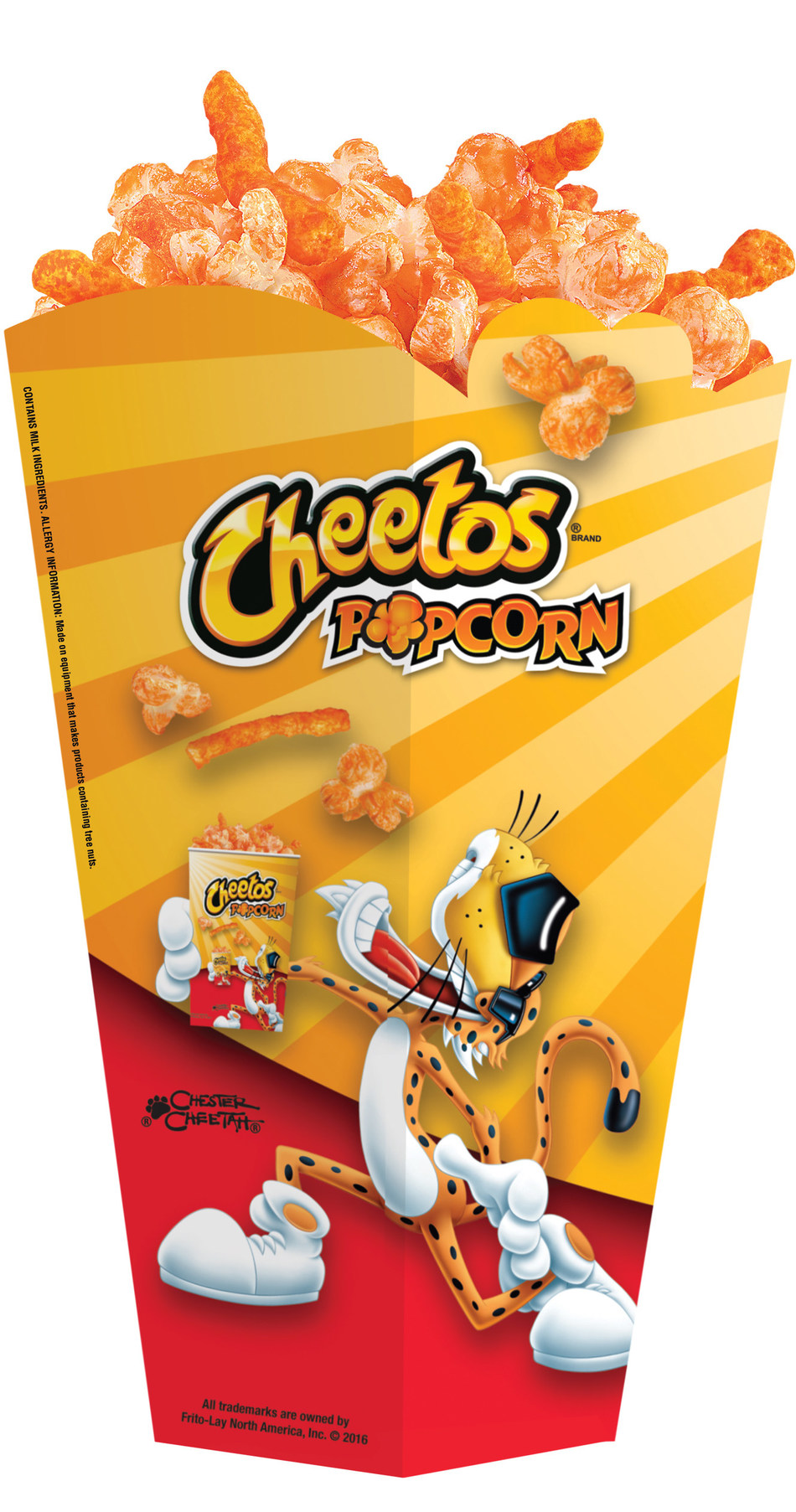 Cheetos Popcorn, featuring Cheetos-flavored popcorn mixed with Crunchy Cheetos, will debut December 15 at Regal Cinemas nationwide
