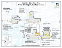Eleonore Gold Mine Area - James Bay Region, Quebec, Canada (CNW Group/Azimut Exploration Inc.)