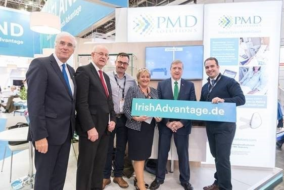 PMD Solutions team pictured at Medica 2017, Germany with Minister for Trade, Employment, and Business, Pat Breen TD (PRNewsfoto/PMD Solutions)