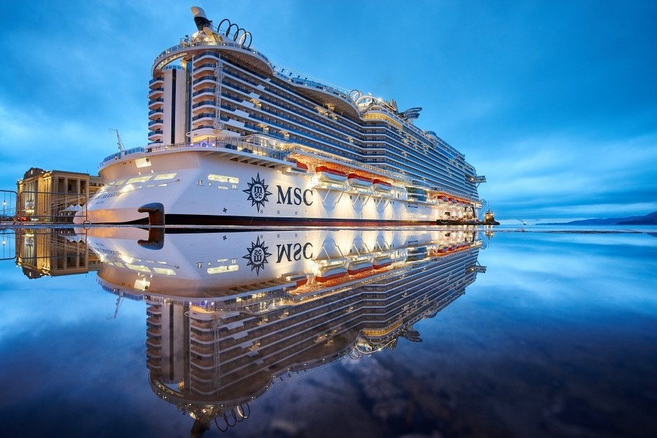 """MSC Seaside, MSC Cruises' revolutionary new flagship, has been named """"Best New Ship"""" by Cruise Critic just before her arrival to the U.S. on December 21."""
