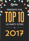 Evite Unveils the Top 10 Party Cities in the U.S.
