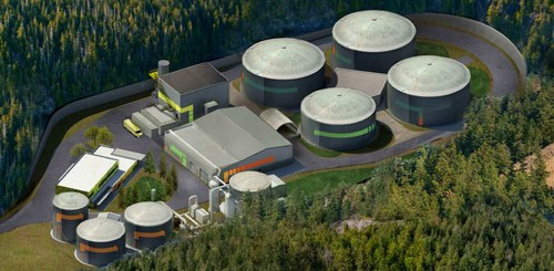 Rendering of Capital Regional District Wastewater Treatment Project Residuals Treatment Facility (CNW Group/Maple Reinders)