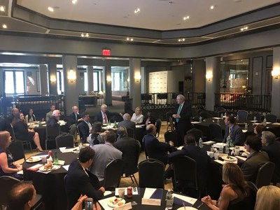Editor-in-Chief of Forbes Media Steve Forbes addresses the Forbes School of Business & Technology Board of Advisors at a June 2017 board meeting in New York City.