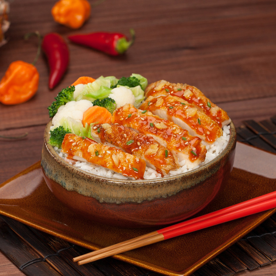 Yoshinoya America Spices up their Menu with New Habanero Chicken. This new menu item is grilled, hand-sliced chicken that is topped with a new spicy habanero sauce and served with their award winning steamed rice and nutritious veggies.